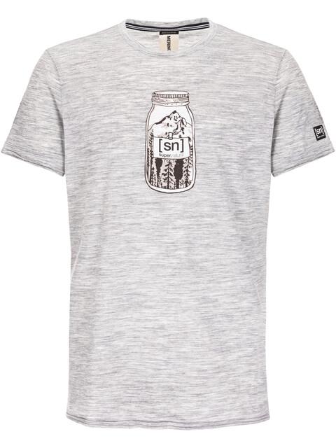 super.natural Digital Graphic Tee 140 Kortærmet T-shirt Herrer grå